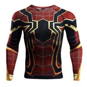 Рашгард Железный Человек-Паук с длинным рукавом - 3D 7
