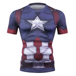 Компрессионная футболка Капитан Америка - 1362997152 1