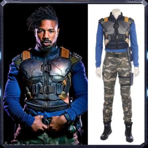 New Movie Black Panther Erik Killmonger Cosplay Costume Halloween Costumes For Men Full Set Custom Made.jpg 640x640