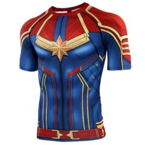 Главная страница - 3D Printed T shirts Men Captain Compression Shirts Raglan Sleeve 2019 Short Sleeve Comics Cosplay Costume 7