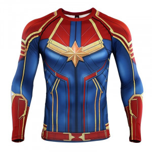 Captain 3D Printed T shirts Men Compression Shirts Raglan Sleeve 2019 Long Sleeve Pattern Tops Male 6