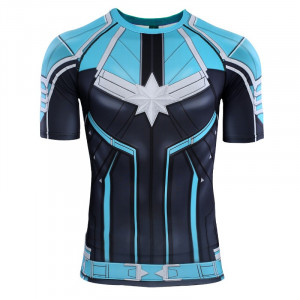 Captain 3D Printed T shirts Men Compression Shirts Raglan Sleeve 2019 Short Sleeve Comics Cosplay Costume 6