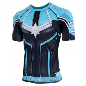 Captain 3D Printed T shirts Men Compression Shirts Raglan Sleeve 2019 Short Sleeve Comics Cosplay Costume 7