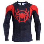 Raglan Sleeve Into the Spider Verse 3D Printed T shirts Men Spiderman Compression Shirts 2019 Tops 6