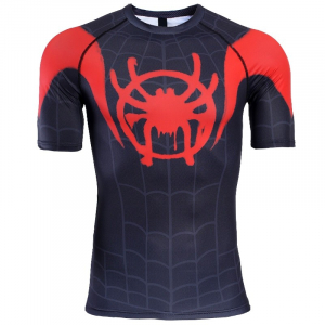 Raglan Sleeve Spiderman 3D Printed T shirts Men Compression Shirts 2019 New Short Sleeve Comics Cosplay 7