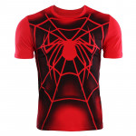 Spiderman Casual Shirt Men Cotton Short Sleeve Tops Summer 2019 New Arrivals Printed Streetwear Funny T 6