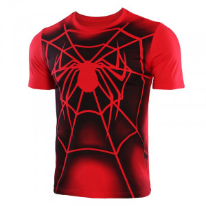 Spiderman Casual Shirt Men Cotton Short Sleeve Tops Summer 2019 New Arrivals Printed Streetwear Funny T 7