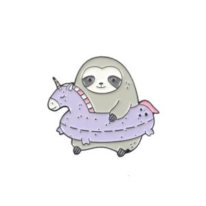 Значок Sloth Unicorn Swim Ring Брошь - o1cn011zsbfn3aefwm4eh 398776713