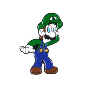 Значок Luigi Super Mario Брошь - o1cn011zsbfv4o2kojctn 398776713
