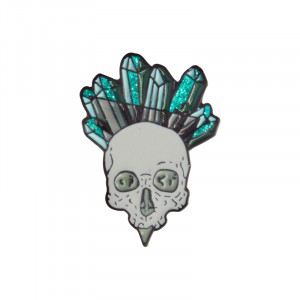 Значок Мёртвый кристал череп Брошь - o1cn018i01ob1zsbh9vreja 398776713