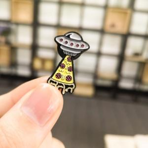 Значок Pizza UFO Aliens Брошь - o1cn01hwuty51zsbjvevynt 398776713