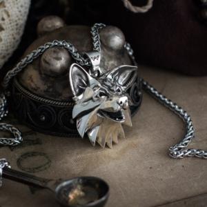 Корги Медальон Ведьмак Белая Волк Сапковски - 1 5