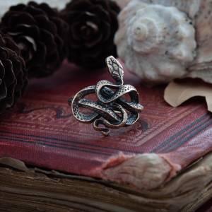 Змей Кольцо Мистическое Ручной работы - 1 9