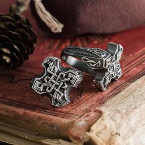 Крест Одина Кольцо Кельтский Узел Кольцо - 11 1 2