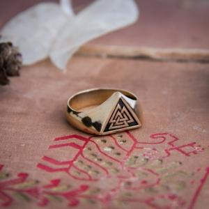 Валькнут кольцо Древний символ Скандинавы - 2 2 3