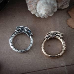 Кольцо Уроборос Змей Мифология Змей - 2 2 6
