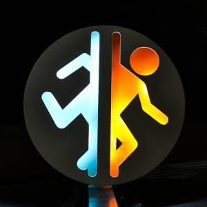 Ночник Portal Игра Логотип Синий Оранжевый Лампа - main 2