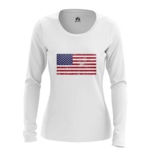 Женский лонгслив Флаг США Мерч Атрибутика - main 1tk2gu0z 1564417327