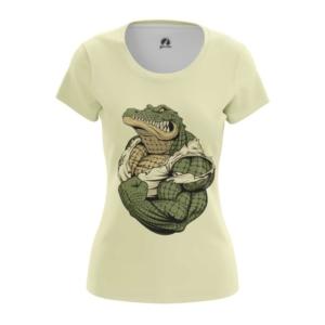 Женская футболка Крокодил Принт Рептилия - main bqqbvn9c 1573841256