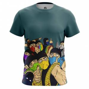 Мужская футболка Мортал Комбат MK цветные Друзья - main ddztkqjp 1554391786