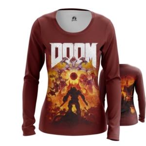 Женский лонгслив Doom eternal Мерч - main diwoxlfk 1563460499