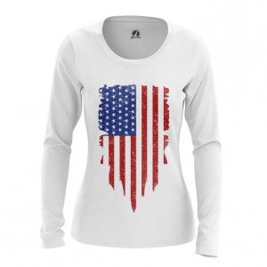 Женский лонгслив Флаг США Атрибутика - main dx2pu2gf 1564417560