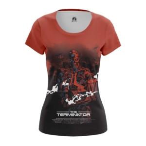 Женская футболка Терминатор Эндоскелет Робот - main kbwtozx9 1572447015