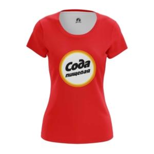Женская футболка Сода Пищевая Еда Логотип - main ktuu8fdx 1572372688