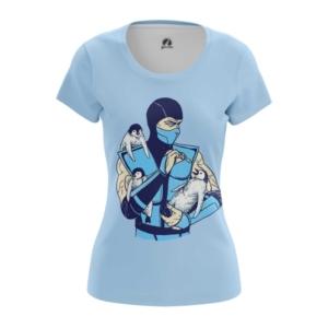 Женская футболка Саб зиро пингвины Мортал Комбат - main kvvccaoi 1554391945