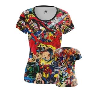 Женская футболка Марвел герои принт одежда - main o7enpvc3 1551779510