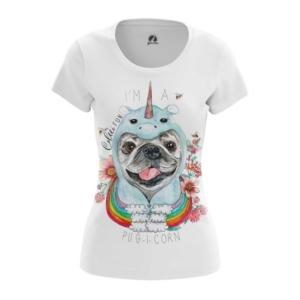 Женская футболка Pug-i-Corn Единорог Мопсы - main p2khw3z0 1561921210