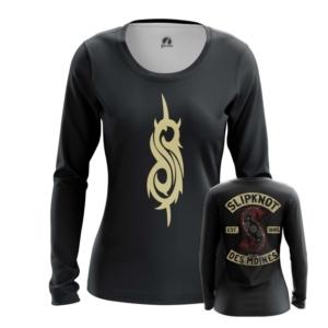 Женский лонгслив Slipknot логотип одежда - main qtjhenab 1562922120