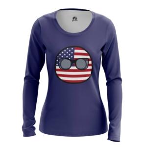 Женский лонгслив Кантриболз Флаг США - main rtwukr8d 1564416791