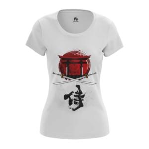 Женская футболка Бушидо кодекс Самурай - main somsklfq 1563455858