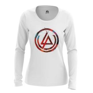 Женский лонгслив Логотип Linkin Park Белая - main tfeijavu 1552750248