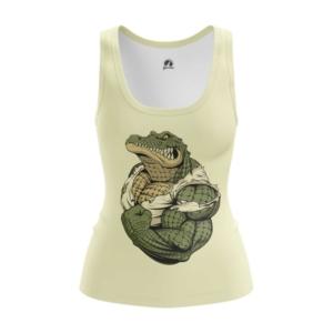Женская майка Крокодил Принт Рептилия - main tiubivvr 1573841266