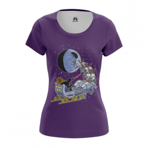 Женская футболка Звездные войны рождество звезда смерти - main tkcnkhjh 1545138690
