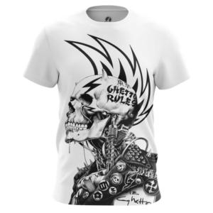 Мужская футболка Ghetto правила Панк Черепа - main txnaajli 1538408238