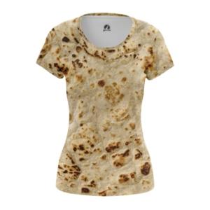 Женская футболка Лаваш Принт Лепёшки - main w6w8zuum 1571908249