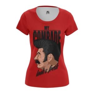 Женская футболка Вождь Стиляга Мерчандайз Сталин - main whpzcovo 1554199735