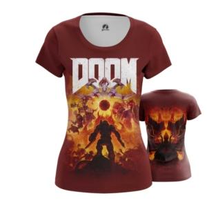Женская футболка Doom eternal Мерч - main wpd6okeq 1563460483