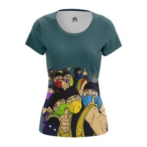 Женская футболка Мортал Комбат MK цветные Друзья - main wu27kufm 1554391791