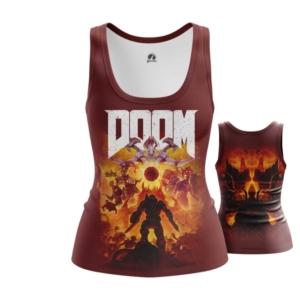Женская майка Doom eternal Мерч - main x7ascfrh 1563460491