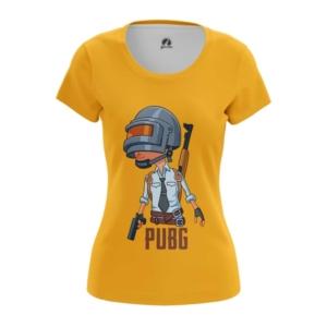 Женская футболка ПУБГ Оранжевая Игра PUBG - main ylhurkrg 1568895950