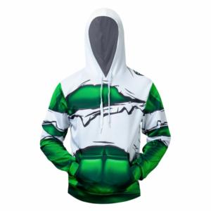 Худи Халк Зелёный Торс под одеждой Кофта - s l800 46
