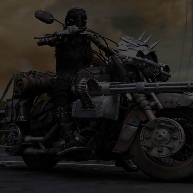Мотоциклы, Байкерская тематика