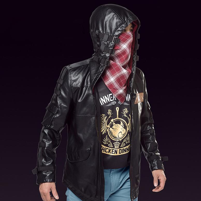 Куртка Игрок Чёрная PUBG Персонаж из игры PlayerUnknown's -