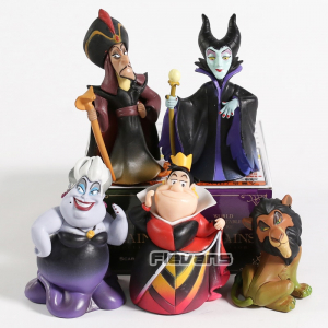 Фигурки Злодеи Disney Урсула Джафар Шрам 5 шт./компл. 9 см - wcf