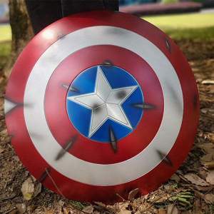 Щит Капитан Америка Повреждённый Металл 60 СМ - 1 1 60 6