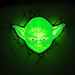 Светильник Голова Магистр Йода 3D Звездные Воины - 3d